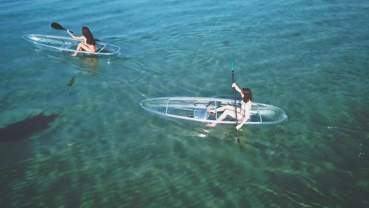 Clear kayaking & BBQ package